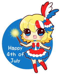 Happy 4th of July from Kaede to you!