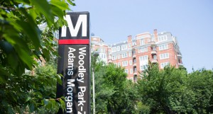 The Washington Marriott Wardman Park hotel is located right off of the Woodley Park Metro stop.